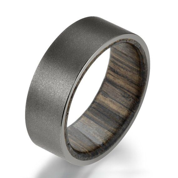 Handmade Wedding Band Bog Oak Natural Color Dark Ring for Man and Woman Hardwood Jewelry Elegant Ring for Engagement