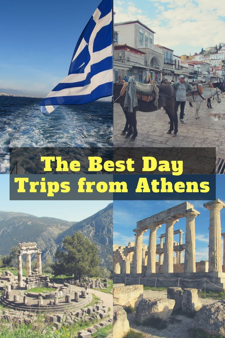 A guide to the best day trips from Athens. Includes how to get to Delphi, Sounion, Meteora, 3 Greek Islands and more! #Athens #greece