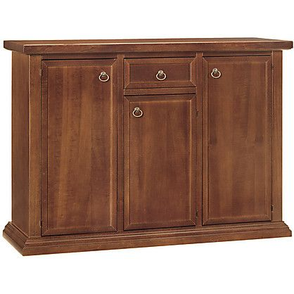 Credenza Aporia stile Classico Rustico in Legno colore Noce cm 120x40x88H