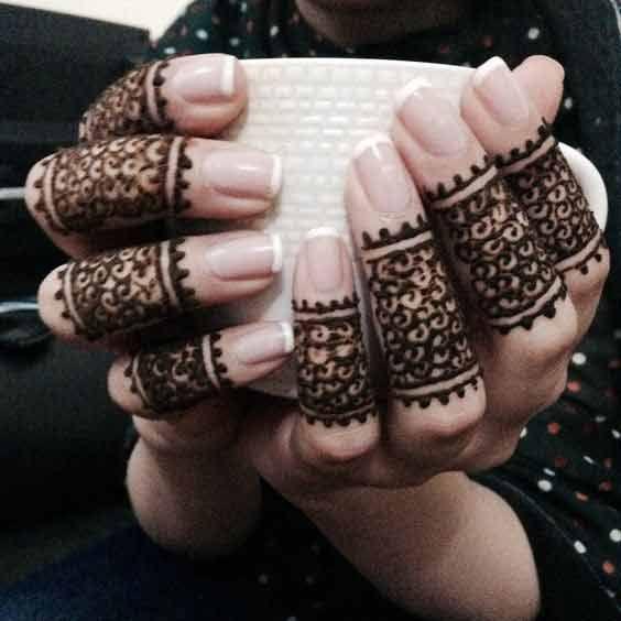 25 best ideas about finger mehndi design on pinterest