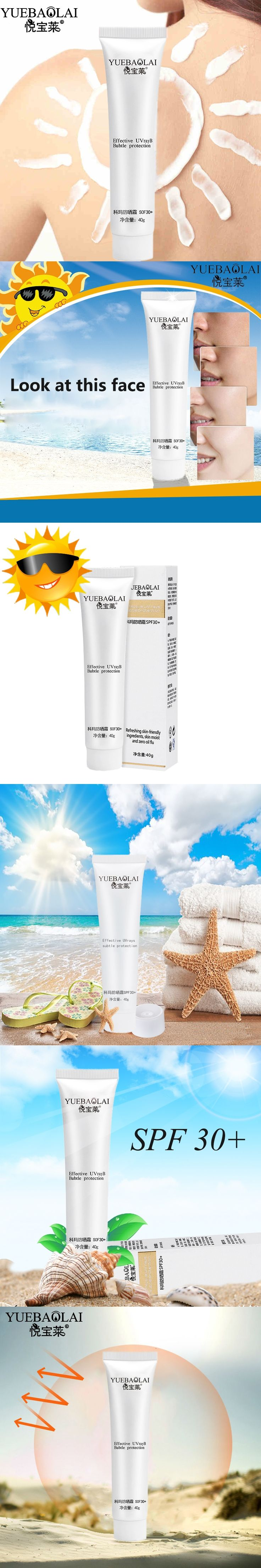 Face Skin Care Whitening Sun Protection Sunscreen Cream Waterproof Moisturizing Sunblock Cream Spf 30+ For Man And Woman
