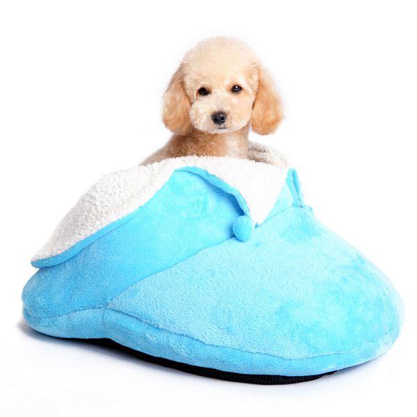 Cozy Slipper Dog Bed :: Blue - $79.00