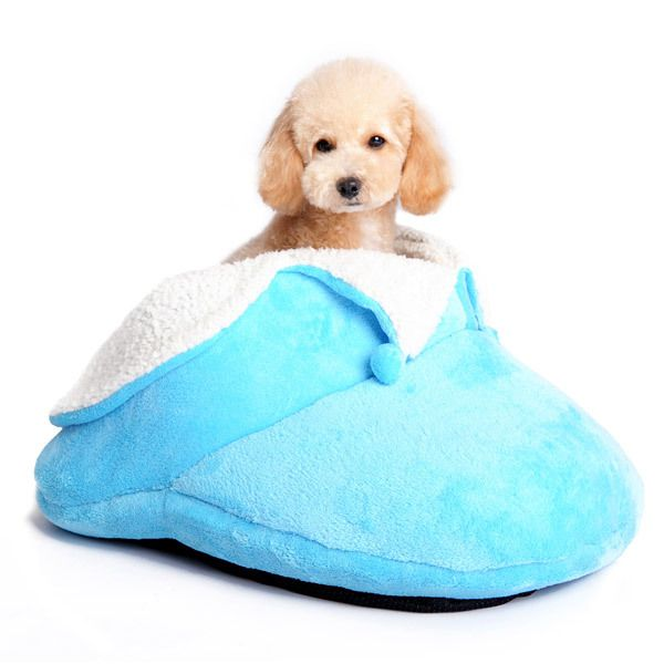 Cozy Slipper Dog Bed :: Blue - $79.00