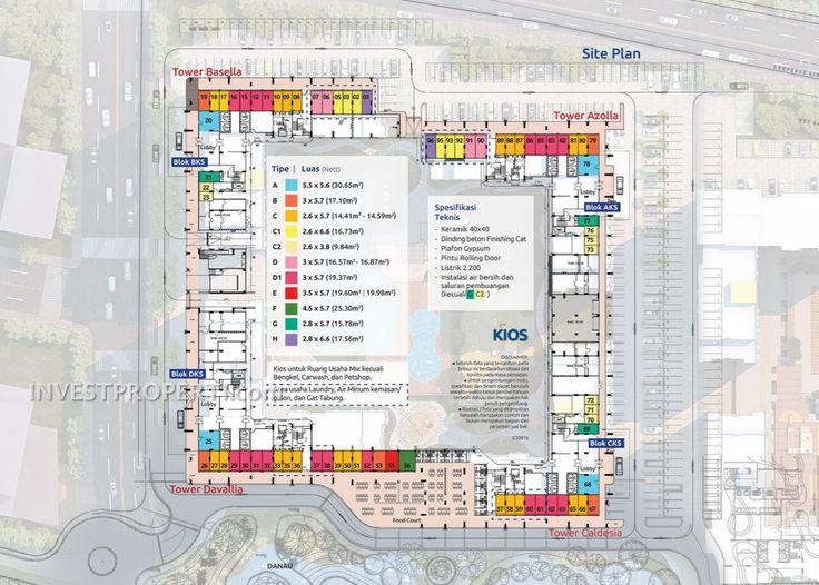 Site plan Kios Apartemen Summarecon Bekasi