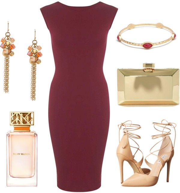 burgundy dress perfect for a fall wedding outfit
