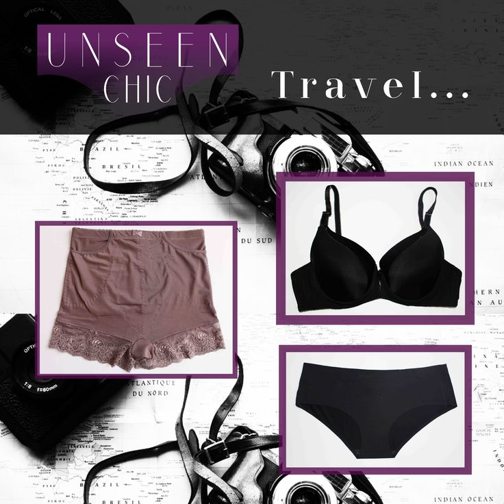 At Unseen Chic we have travel friendly underwear. Fast drying, breathable, active support, stylish, comfortable, practical and great for limited packing space. We even have panties with pockets so that you can be pickpocket-proof!