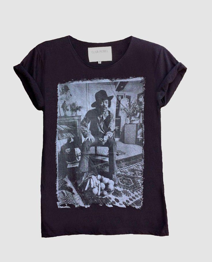 Jimi Hendrix Fine Jersey Unisex T-Shirt