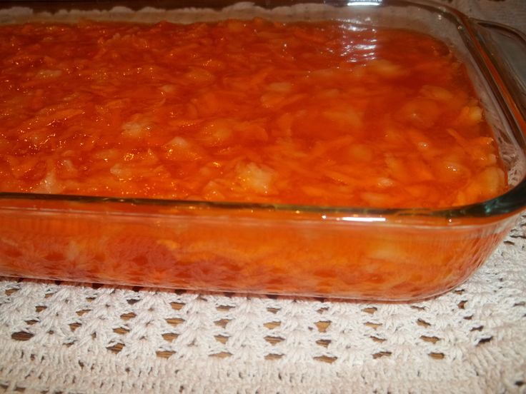 Orange Carrot Jello Salad (GF) on MyRecipeMagic.com. Make this every year at Thanksgiving.