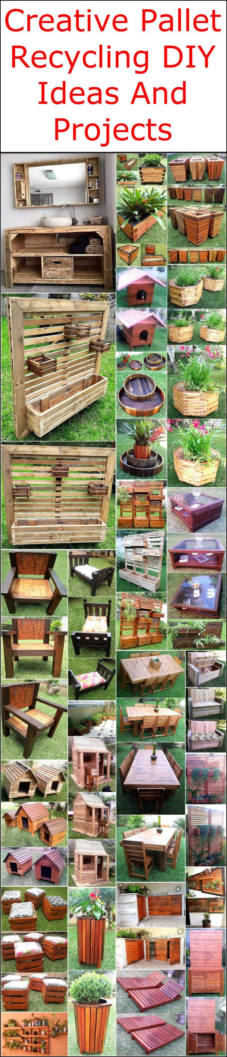 These pallet innovations will refurbish your home according to latest furnishing trends and surprise everyone with your decorating sense and taste. Looking around on this pallet wood site, you will find many useful, attractive and inspiring creations for your places and you can easily make a use of your wasted pallet material in the creation of these delightful DIY pallet plans.  #pallets #woodpallet #palletfurniture #palletproject #palletideas #recycle #recycledpallet #reclaimed #repurposed