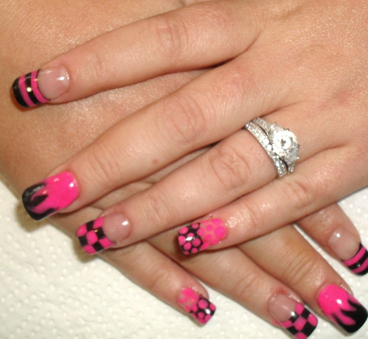 Designer nails, build and designed with Acrylic