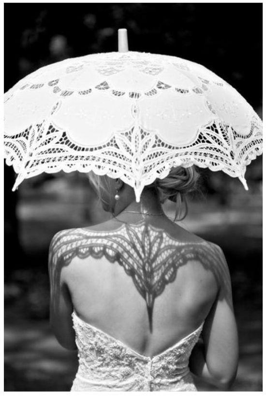 lace parasol | Weddingbells.ca