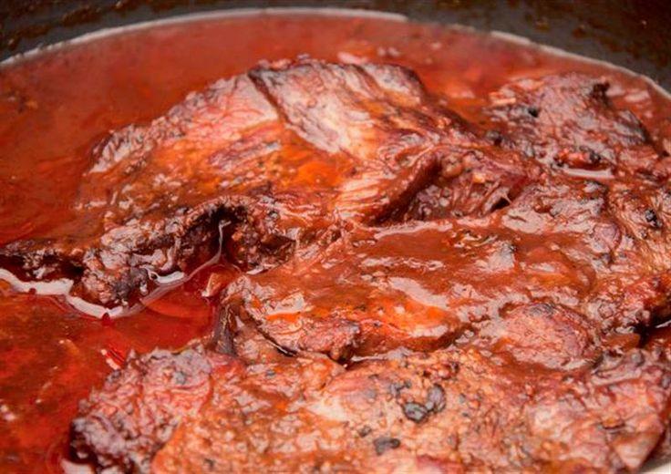Stoofvlees met balsamico en rode wijn