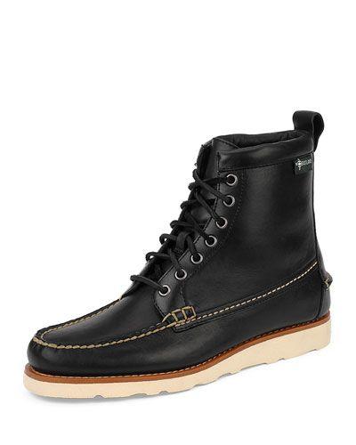 EASTLAND EDITION SHERMAN 1955 LEATHER BOOT, BLACK. #eastlandedition #shoes #
