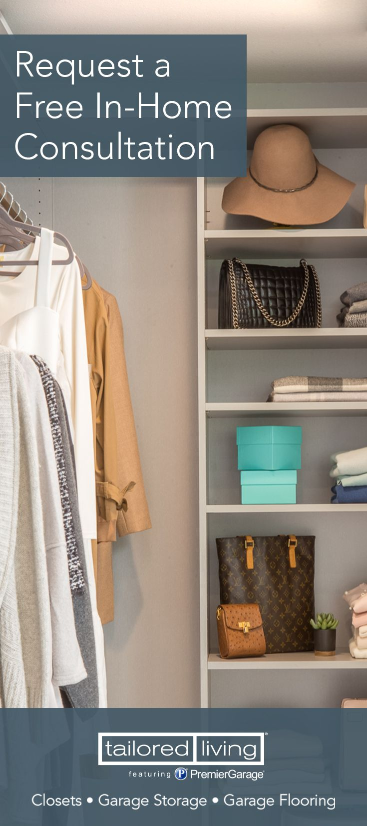 Affordable U0026 Stylish Custom Closets. Request A Free In Home Consultation  Today And Ask About Our Special Savings.