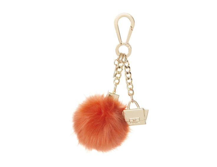Glam up your handbag or keys with this chic faux fur pom pom keyring. It features a lobster clasp attachment, mini handbag and Dune branded coin. Provides an instant standout appeal.