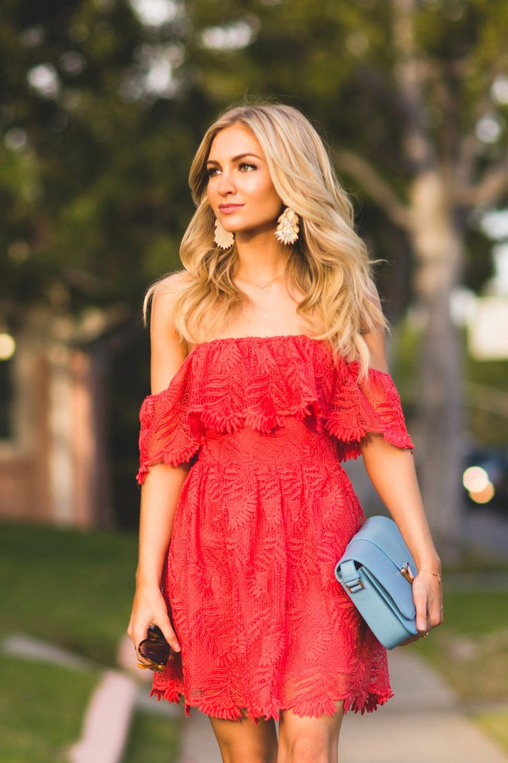 CORAL LACE DRESS AngelFoodStyle waysify