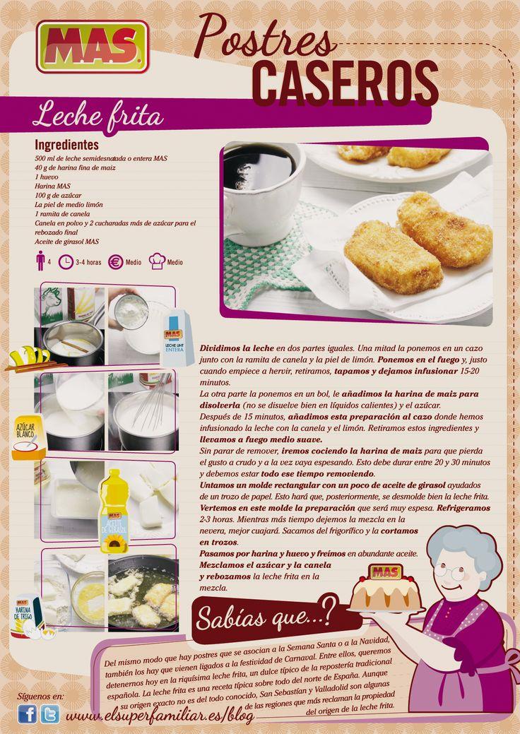 Receta De Leche Frita | Supermercados MAS Blog