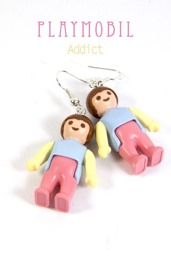 boucle d'oreille playmobil