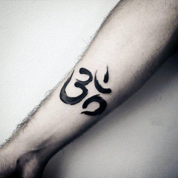 parte interna del antebrazo impresionante Guys OM acuarela tatuajes