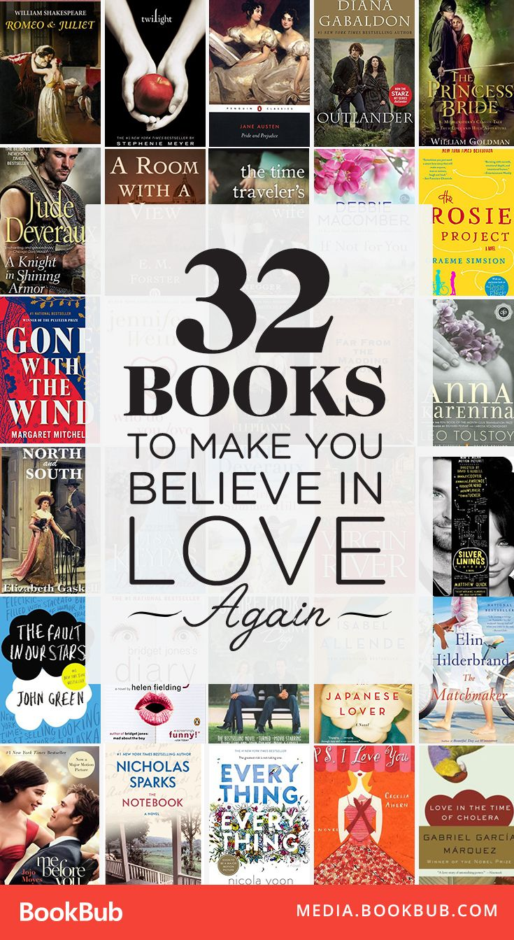 32 books to read that will make you believe in love again! These uplifting reads feature romantic classics, young adult bestsellers, emotional women's fiction, and more! | Heartwarming romance novels | Love stories to read | Books about love