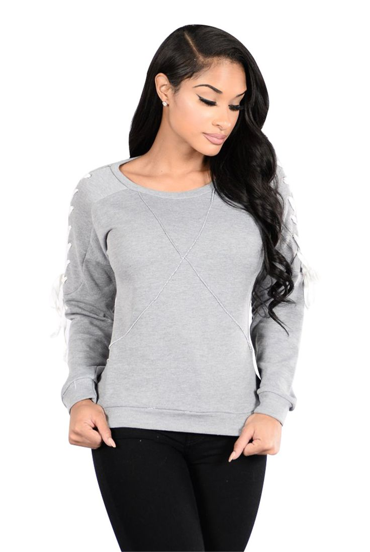 >> Click to Buy << 2017 New Spring Design Women T-shirts Coat Criss-Cross Round Neck Thicken Ladies Clothing #Affiliate