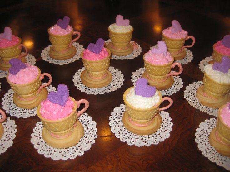 Tea cups for Tea Party birthday theme!