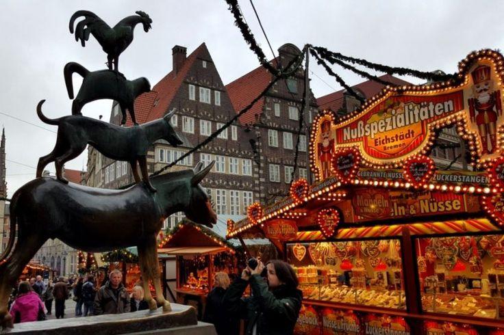 Historischer Weihnachtsmarkt Bremen und die Bremer Stadtmusikanten (c)busyinpink.de