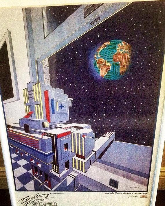 Rare Silicon Valley Poster from 1985 by ThingsIBuyForYou on Etsy