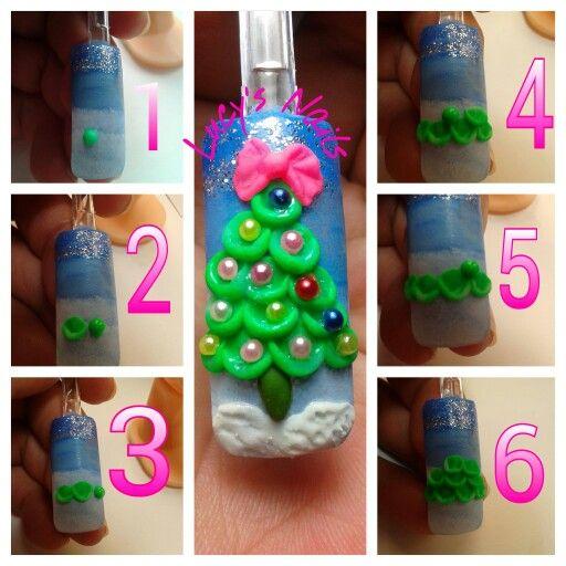 3d Christmas nail art