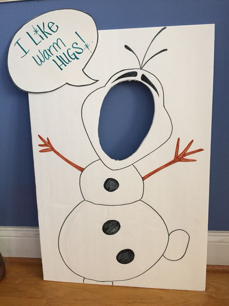 Olaf face cutout #DIY for baby girls birthday party                                                                                                                                                                                 More