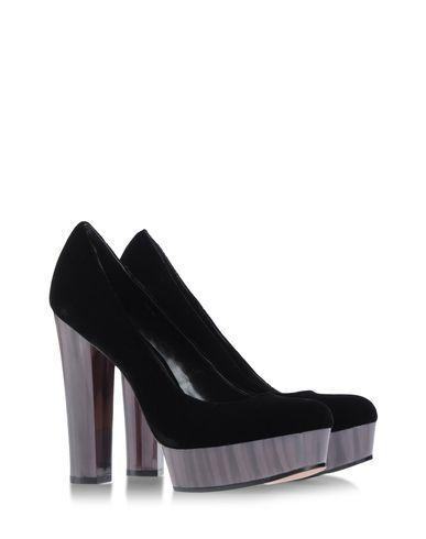 Splash Floral Boots Design Footwear Black Heels Pumps Womens Size US 9B EUR 39.5