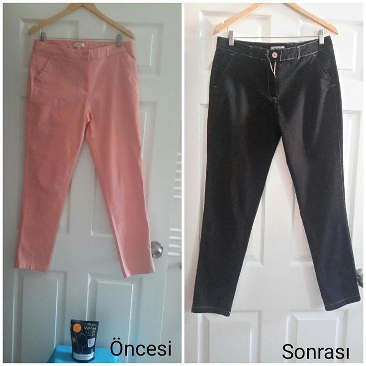 Zeynep Hanım bizden DYLON Kadife Siyah - Velvet Black Wash & Dye boyalarımızdan alarak rengini değiştirdiği pantolonunu ..Güle güle kullanın zeynep hanım :) www.gagva.com.tr 'den ve #carrefoursa lardan alabilirsiniz bu rengimizi..