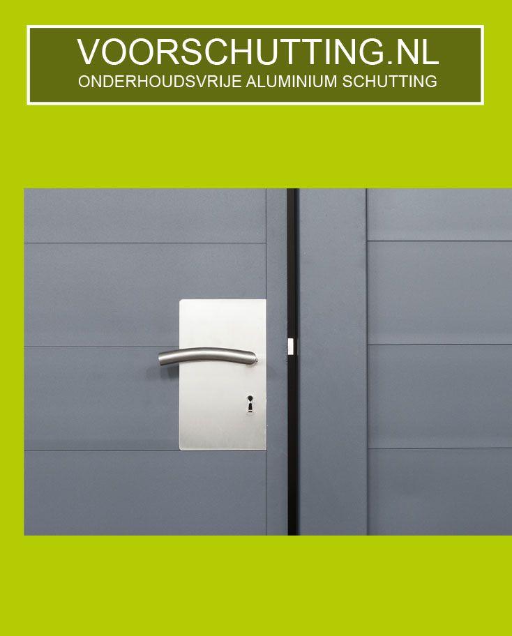 Aluminium Schutting Onderhoudsvrij, in elke RAL kleur & lengtemaat mogelijk. Montage indien gewenst. Voordeliger + duurzamer dan een betonnen schutting. Esthetisch fraaiste systeem en eenvoudige te monteren door uniek kliksysteem. Made in Holland !