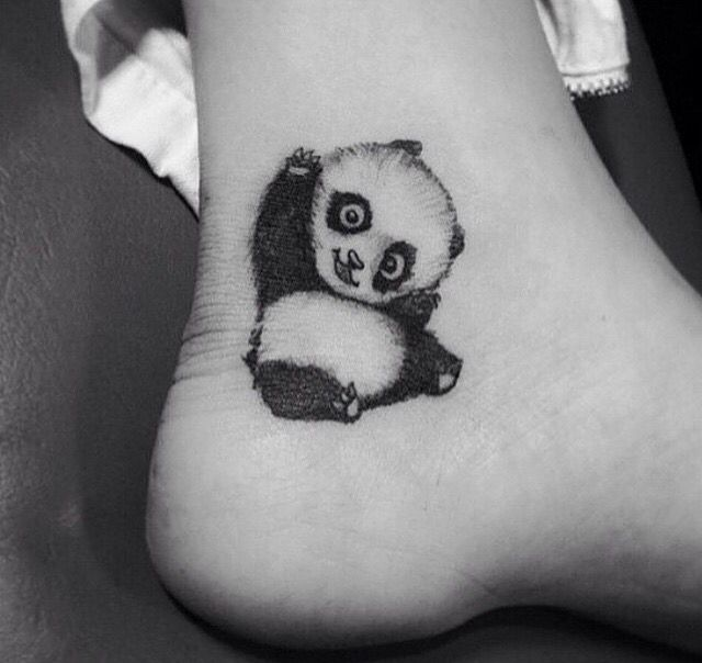 If I ever decided to get tattoos for my nieces & nephews, I would get this for 1 of my nieces cause she loves pandas