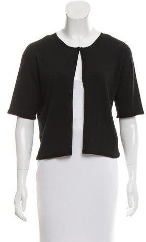 Armani Collezioni Knit Short Sleeve Cardigan