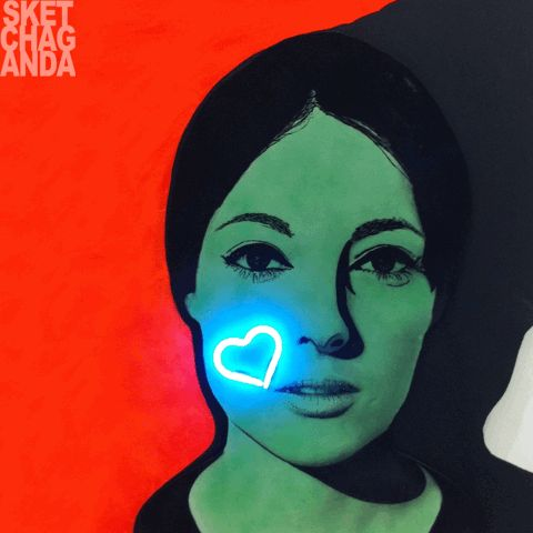 Martial Raysse's Nissa Bella gif by Sketchaganda Martial Raysse  Pop art