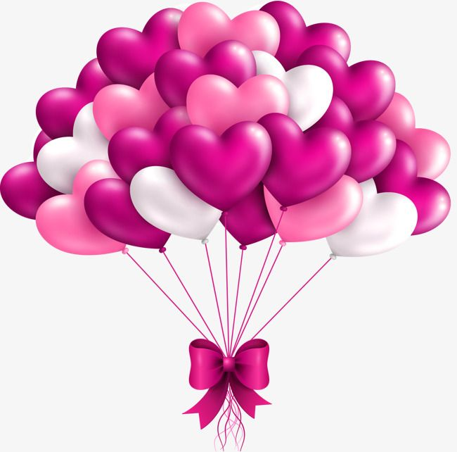 Pink Heart Balloon Bowknot Decorative Pattern Heart Clipart Balloon Clipart Pink Png Transparent Clipart Image And Psd File For Free Download Balloons Heart Balloons Happy Birthday Wallpaper