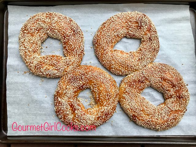 Gourmet Girl Cooks: Simit (Turkish Style Sesame Bagel) - Low Carb, Grain & Gluten Free