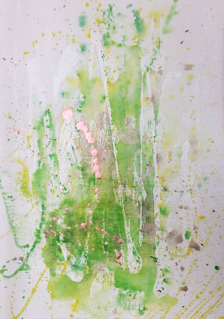 Fun Lemon Fizz - Painting by Aneta Szczepanska Art, Watercolour, Acrylic, Oil on canvas 40x60cm, Lime & Lemon with rose gold touch
