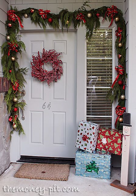 Front Porch Christmas Decor 25+ best christmas front porches ideas on pinterest   christmas