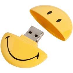 Memorias USB Smiley personalizadas, perfectas para regalar.