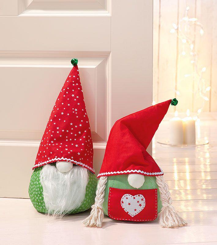 Anleitung: Weihnachtswichtel-Türstopper nähen