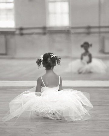 There is a little ballerina inside all of us. A dancer who doesn't fear mistakes who will take a risk to be the best she can be. Yes, there is a little ballerina in side all of us, we just have to take the risk of letting her out.