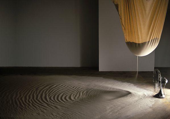 "kapujanincs: "" Ran Ortner Drift (2000) 1000 lbs. of sand, a bag and a fan """