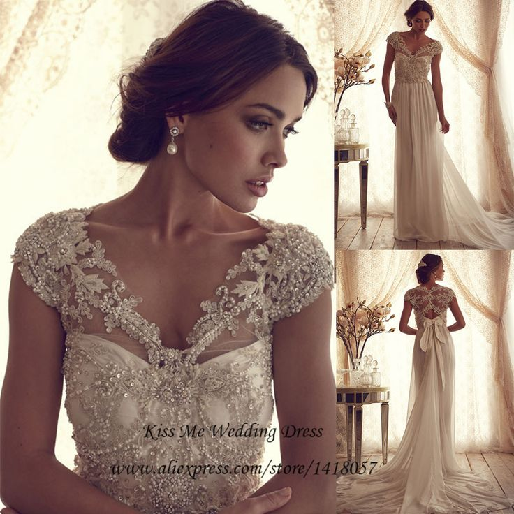 Beautiful Find More Wedding Dresses Information about Vintage Lace Wedding Dress Beaded A Line Bride Dresses