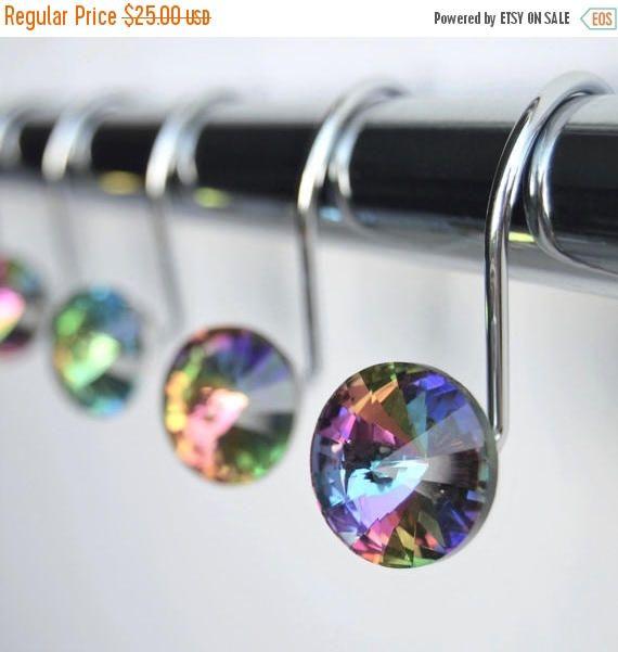 ON SALE Decorative Shower Curtain Hooks Rings Multi Color