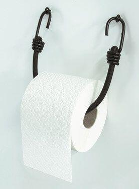 L'extenseur est idéal comme porte-rouleau de papier hygiénique #diy #bathroo…