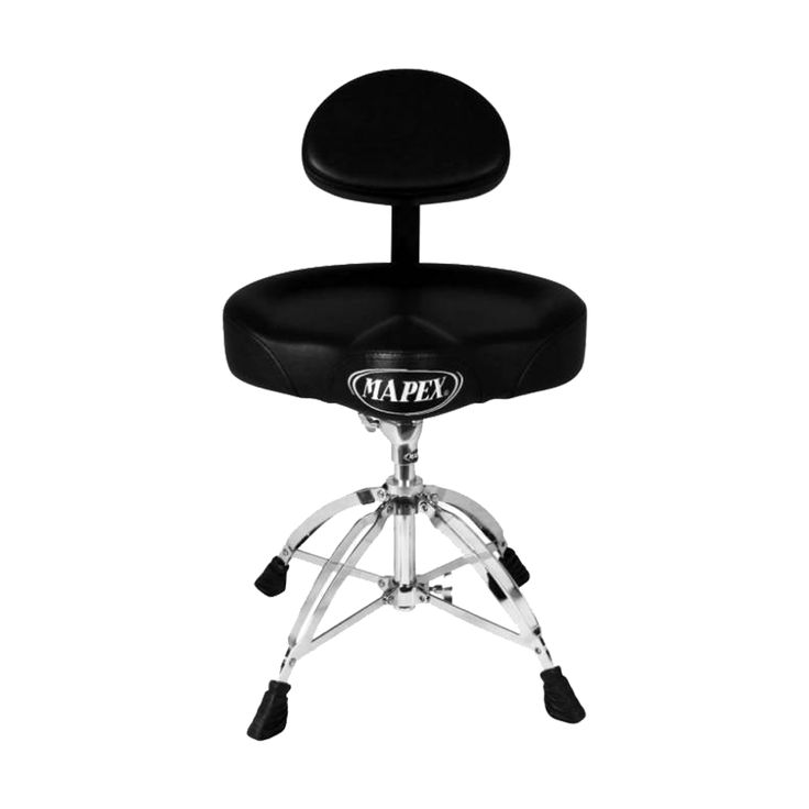 Mapex T775 Saddle Top Drum Throne with Backrest