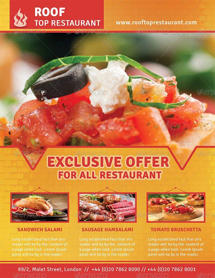 Restaurant Business Flyer Bundle 2 #Business, #Restaurant, #Bundle