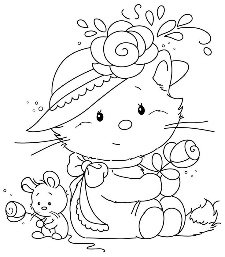 114 best images about kleurplaten katten on pinterest coloring pages coloring and the